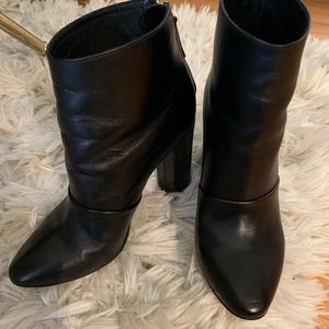 J. Crew Shoes - Black J. Crew ankle boot with zipper.